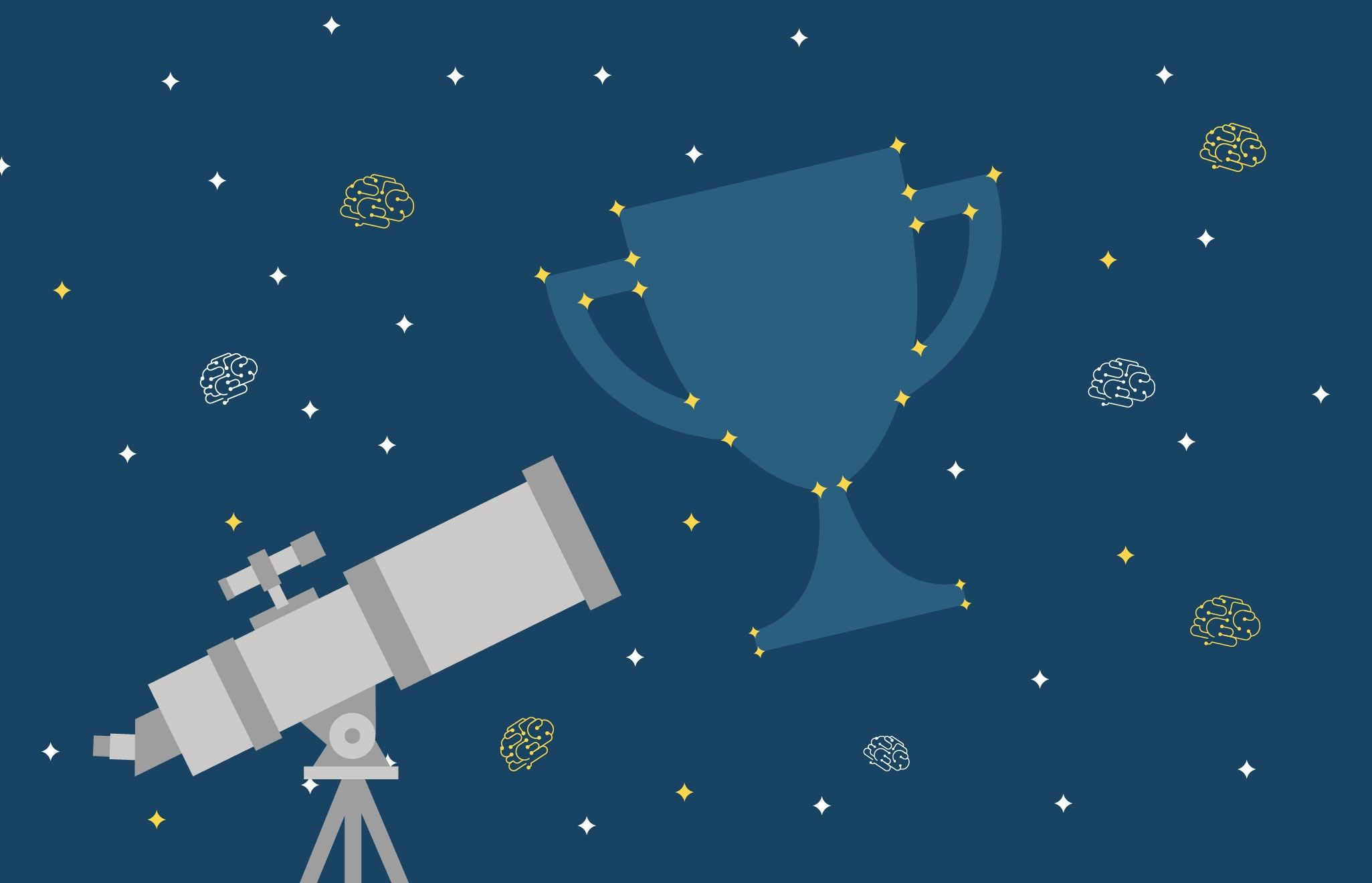 A telescope and a trophy